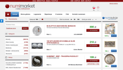 What Numimarket.pl website looked like in 2020 (1 year ago)
