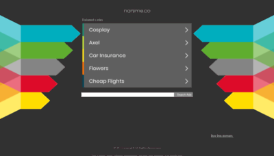 What Nanime.co website looked like in 2020 (This year)