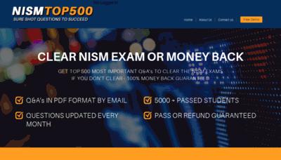 What Nismtop500.in website looked like in 2020 (1 year ago)