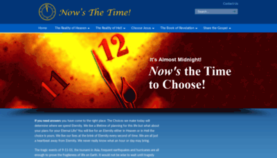 What Nowsthetime.org website looked like in 2020 (1 year ago)