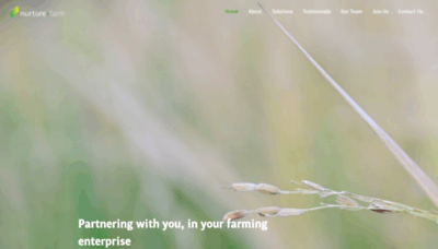 What Nurture.farm website looked like in 2020 (This year)