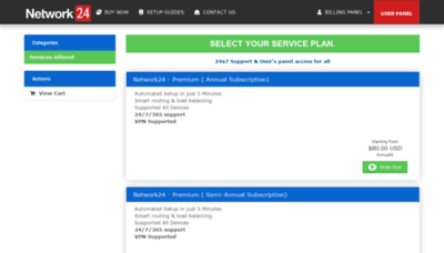 What Network24.biz website looked like in 2020 (This year)