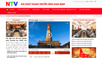 What Namdinhtv.vn website looked like in 2020 (This year)