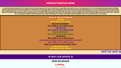 What Newsattamatka.mobi website looked like in 2020 (This year)