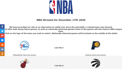 What Nba4live.xyz website looked like in 2020 (This year)