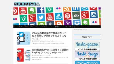 What Nurumayu.net website looks like in 2021