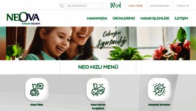 What Neova.com.tr website looks like in 2021