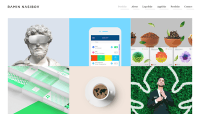 What Nasibov.me website looks like in 2021