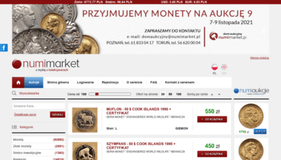 What Numimarket.pl website looks like in 2021