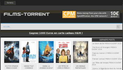 What Oxtorrent.fr website looked like in 2017 (4 years ago)