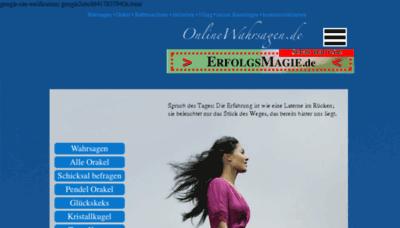 What Onlinewahrsagen.de website looked like in 2017 (3 years ago)