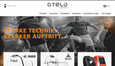 What Otelo-sports.de website looked like in 2017 (3 years ago)
