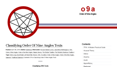 What O9a.org website looked like in 2018 (3 years ago)