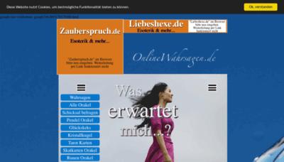 What Onlinewahrsagen.de website looked like in 2019 (2 years ago)