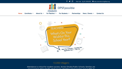 What Omahaschoolsfoundation.org website looked like in 2019 (1 year ago)