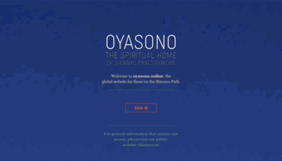 What Oyasono.online website looked like in 2019 (1 year ago)