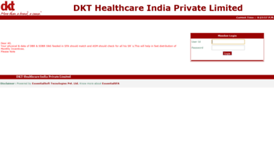 What Otc.dktindiasfa.in website looked like in 2020 (1 year ago)