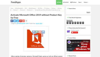 What Office2019.wapsite.me website looked like in 2020 (1 year ago)