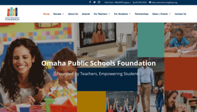What Omahaschoolsfoundation.org website looked like in 2020 (This year)