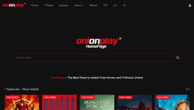 What Onionplay.co website looks like in 2021
