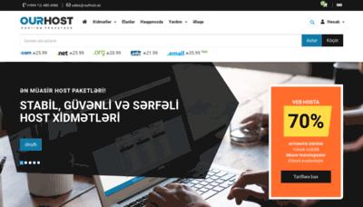 What Ourhost.az website looks like in 2021