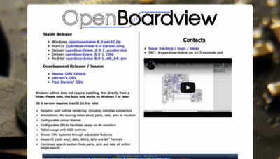 What Openboardview.org website looks like in 2021