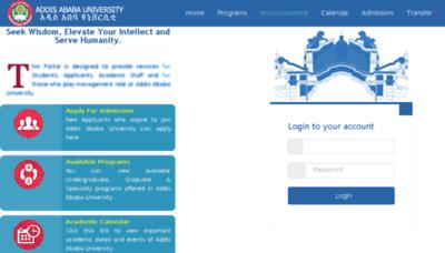 What Portal.aait.edu.et website looked like in 2017 (4 years ago)