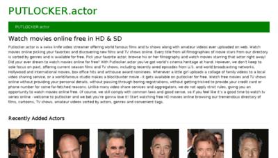 What Putlocker.actor website looked like in 2018 (3 years ago)