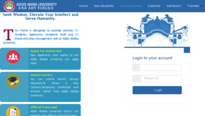 What Portal.aait.edu.et website looked like in 2018 (3 years ago)