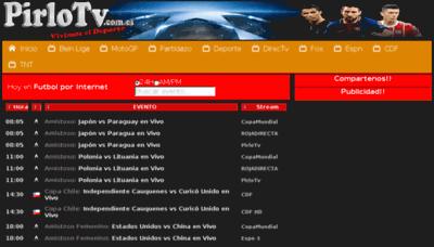 What Pirlotv.com.es website looked like in 2018 (3 years ago)