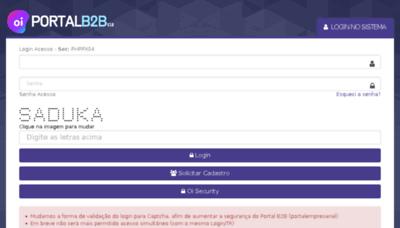 What Portalempresarial.oi.net.br website looked like in 2018 (2 years ago)