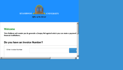 What Payments.kyu.ac.ug website looked like in 2018 (3 years ago)