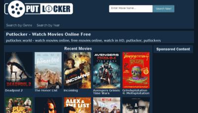 What Putlocker.world website looked like in 2018 (2 years ago)