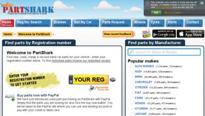 What Partshark.co.uk website looked like in 2018 (3 years ago)