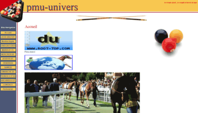 What Pmu-univers.onlc.fr website looked like in 2018 (2 years ago)