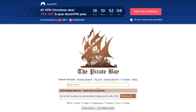 What Pirateproxy.space website looked like in 2019 (2 years ago)