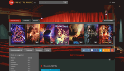 What Papystreaming.red website looked like in 2019 (2 years ago)