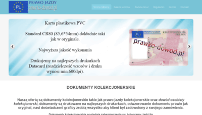 What Prawko-dowod.pl website looked like in 2019 (1 year ago)