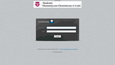What Poczta.ahe.lodz.pl website looked like in 2019 (1 year ago)