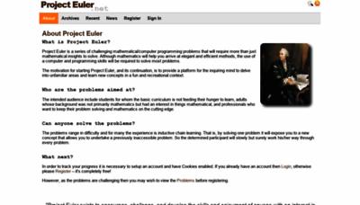 What Projecteuler.net website looked like in 2019 (1 year ago)