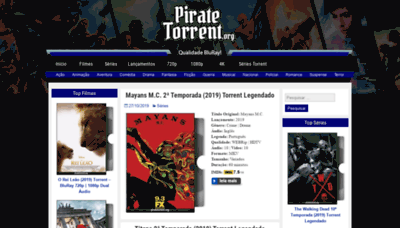 What Piratetorrent.org website looked like in 2019 (1 year ago)