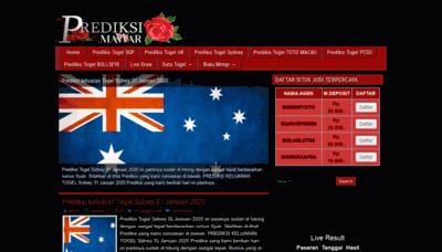 What Prediksimawar.club website looked like in 2020 (1 year ago)