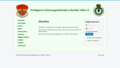 What Psg-rochlitz.de website looked like in 2020 (1 year ago)