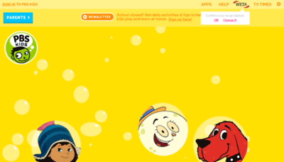 What Pbskids.org website looked like in 2020 (1 year ago)