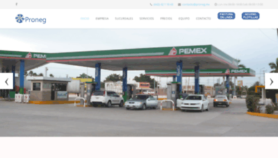 What Proneg.mx website looked like in 2020 (1 year ago)