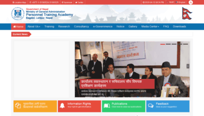 What Pta.gov.np website looked like in 2020 (1 year ago)