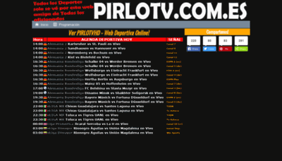 What Pirlotv.com.es website looked like in 2020 (1 year ago)