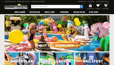 What Partykungen.se website looked like in 2020 (1 year ago)