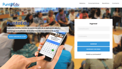 What Puntoedu.co website looked like in 2020 (1 year ago)