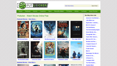 What Putlockers.fm website looked like in 2020 (1 year ago)